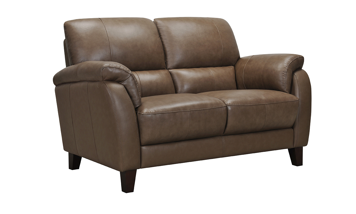 Montclair Latte Leather Loveseat