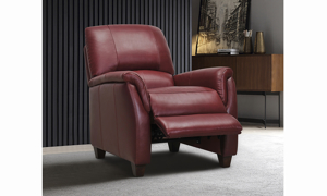 Montclair Garnet Leather Recliner