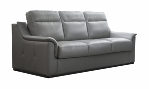 Gemini Grey Leather Sleeper Sofa