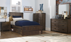St. Croix Walnut Panel Bedroom Sets