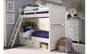 Lakehouse Pebble White 5-Drawer Vertical Chest