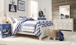 Lakehouse Denim Blue Open Nightstand