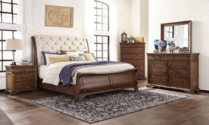 Trisha Yearwood Dottie Coffee Sleigh Beds