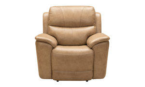Kaden Taupe Leather Power Recliner