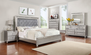 Marilyn Silver Panel Beds