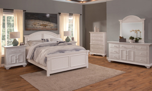 Cottage Traditions White Panel Beds