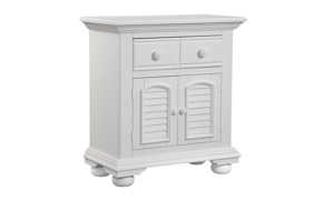 Cottage Traditions White 1-Drawer Nightstand