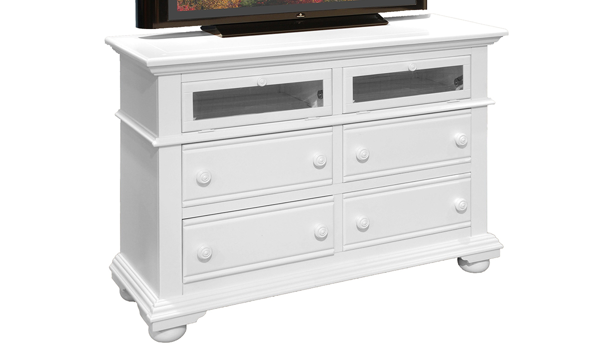 Cottage Traditions White 6-Drawer Media Chest