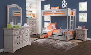 Stonebrook Grey Youth Twin Trundle Storage Unit