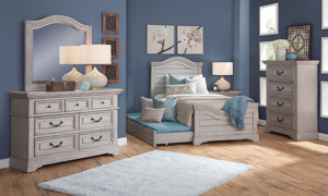Stonebrook Grey Youth 4-Drawer Chest
