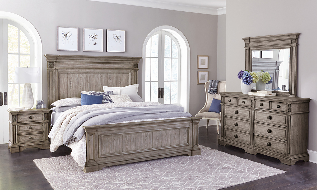 Windmere Grey Panel Bedroom Sets
