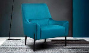 Ashbury Blue Velvet Chair