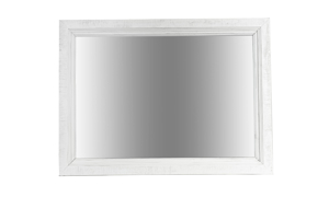 Stone Ivory and Grey mirror. Affordable landscape mirror for your bedroom.