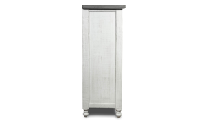 Stone Ivory and Grey Gentleman's Chest. Farmhouse style bedroom storage furniture at outlet prices.