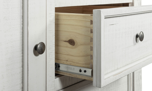 Stone Ivory and Grey Gentleman's Chest. Bedroom storage furniture with dovetail joinery at outlet prices.
