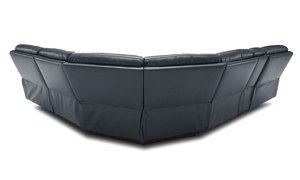 Keller power reclining sectional in navy blue. Shop luxury furniture out outlet prices.