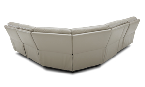 Keller power reclining sectional in a neutral cream. Shop luxury furniture out outlet prices.