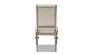 Cardoso Sandstone side chair from Klaussner upholstered in a neutral beige.