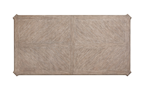 Cardoso Sandstone table from Klaussner view of the table top with no extensions.