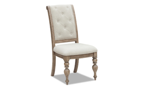 Cardoso Sandstone side chair from Klaussner featuring an upholstered seat and tufted back.