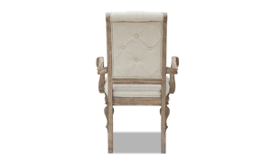 Cardoso Sandstone arm chair from Klaussner upholstered in a neutral beige.