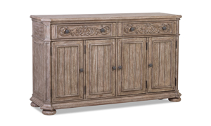 Cardoso Sandstone server from Klaussner with 2 drawers an 4 cabinets.