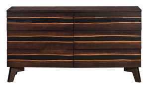 Solid pine dresser for rustic and contemporary bedrooms.