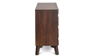 Rustic and contemporary dresser made of solid wood.