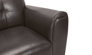Affordable top quality leather loveseat from Violino.