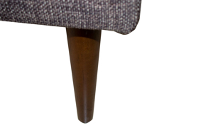 Tapered Wood Legs on Living Room Furniture from the Sunset Brown Collection