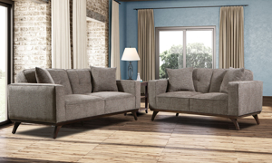 Behold Home couch and loveseat in Lloyd Grey.