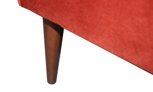 Tapered wood legs from the Sunset Rust collection by Carbon.