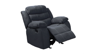 Cozy brown maual recliner from Minhas.