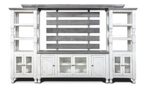 Stone Ivory and Grey Wall Unit from IFD Furniture.