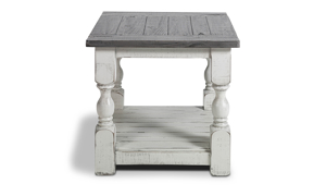 Cottage style end table for your living room.