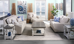 Stone Ivory and Grey collection has many pieces to complete the look for your living room.