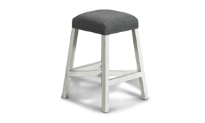 Stone Ivory and Grey Barstool from IFD Furniture.