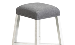 """26"""" tall barstool with fabric upholstered seat."""