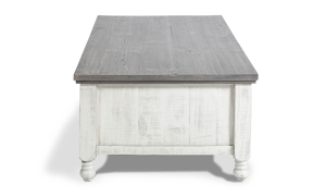 Stone Ivory and Grey storage coffee table from IFD Furniture.