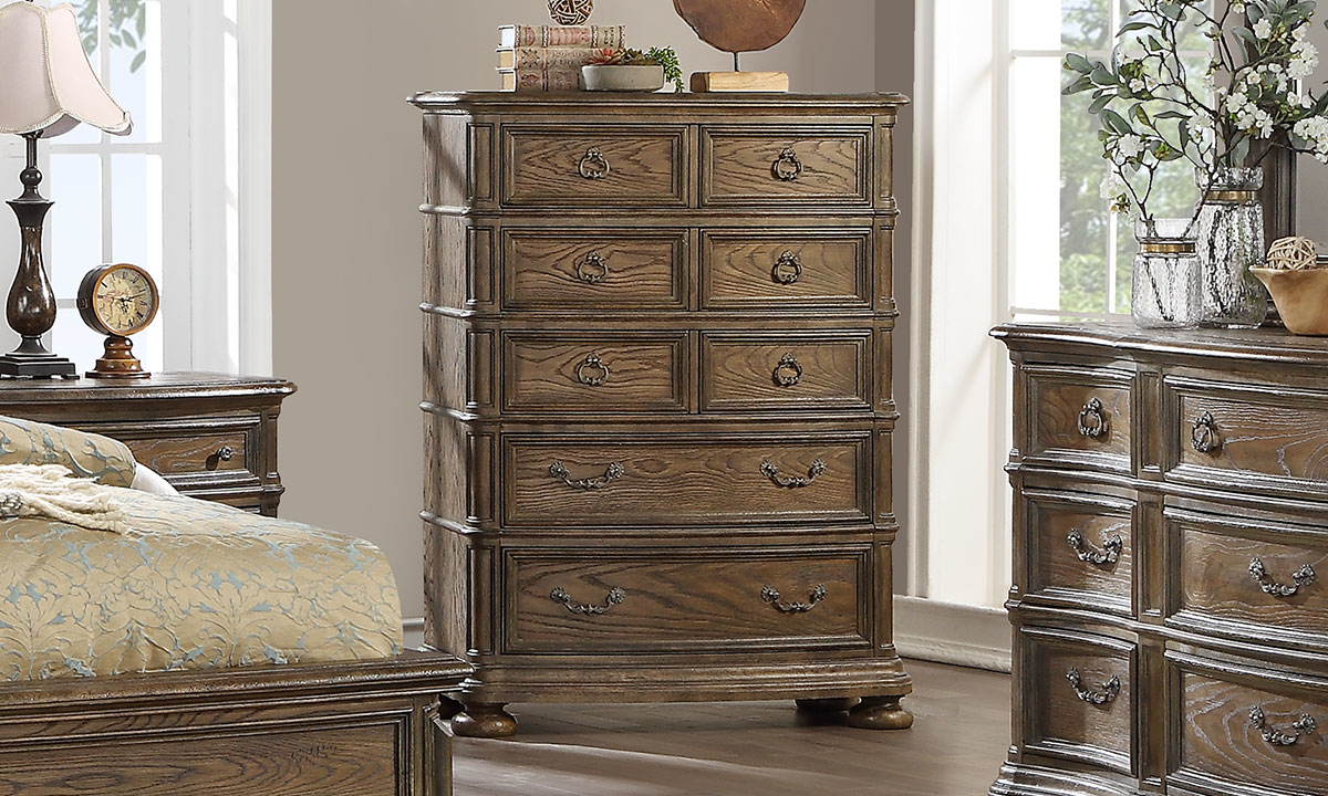 """56"""" tall chest with 8 drawers from Home Insights Furniture."""