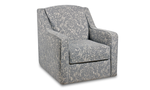 Harleston grey swivel fabric chair with an abstract pattern