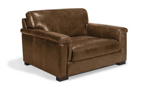Medici brown leather armchair that was handcrafted in Italy.