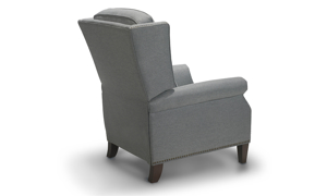 Reclining made easy with an easy push on the Dash and Edison Gifford Recliner.