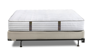 Made with a sustainable steel wrapped innerspring pocket coil support system, the Celestial mattress provides lots of support.