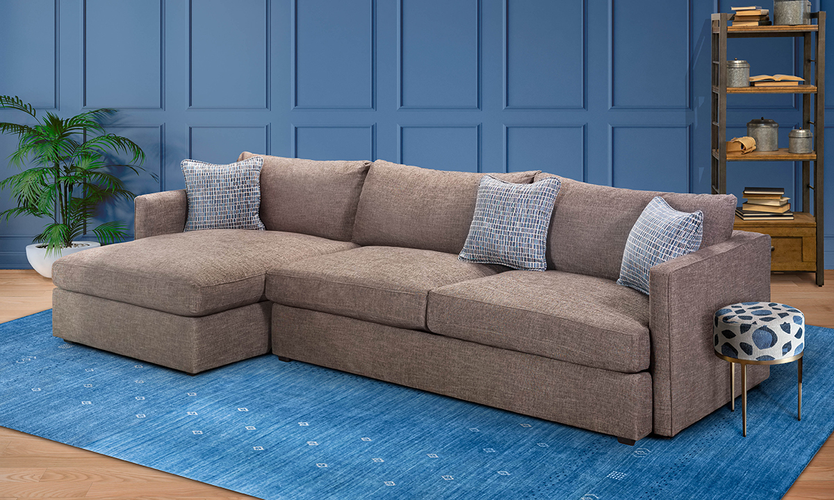 Lincoln Park Coffee 2-Piece Chaise Sectionals