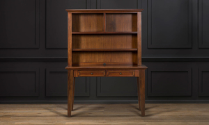 Desk with matching hutch made of solid Mahogany wood from Napa Furniture.