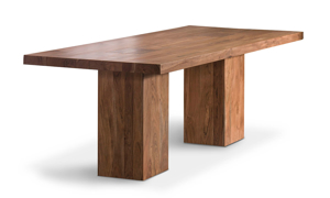 Contemporary dining room table that has been sustainably sourced.