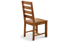 Contemporary wooden chair handmade in India.
