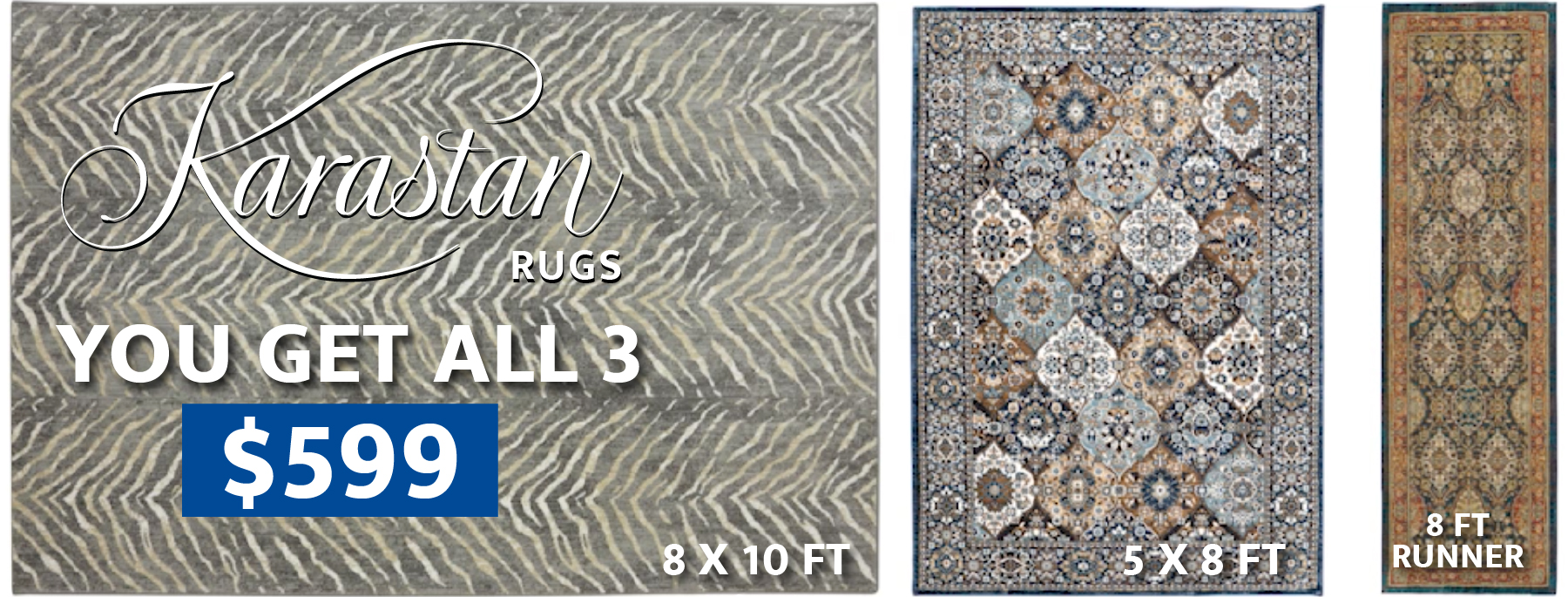 Karastan rugs you get all 3 $599