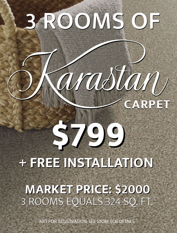 3 Rooms of Karastan Carpet $799
